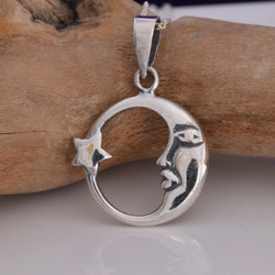 P590 - Crescent Moon and star pendant