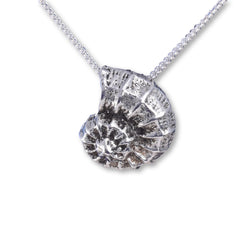 Java Designs ammonite silver pendant