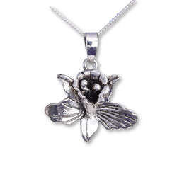 Java Designs silver flower pendant
