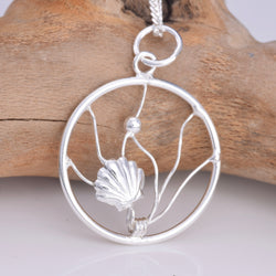 P664 - Silver Scallop sealife pendant