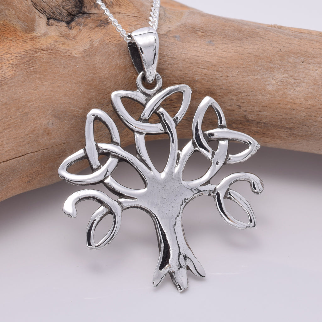 P751 - Celtic Tree of life silver pendant
