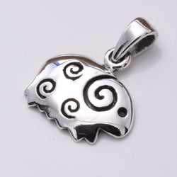 P760 - Cute silver sheep pendant