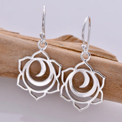 E604 - Chakra silver drop earrings