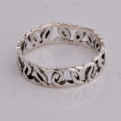 R012 Silver ring band