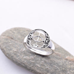 R113 - 925 Silver Chalice Well Ring