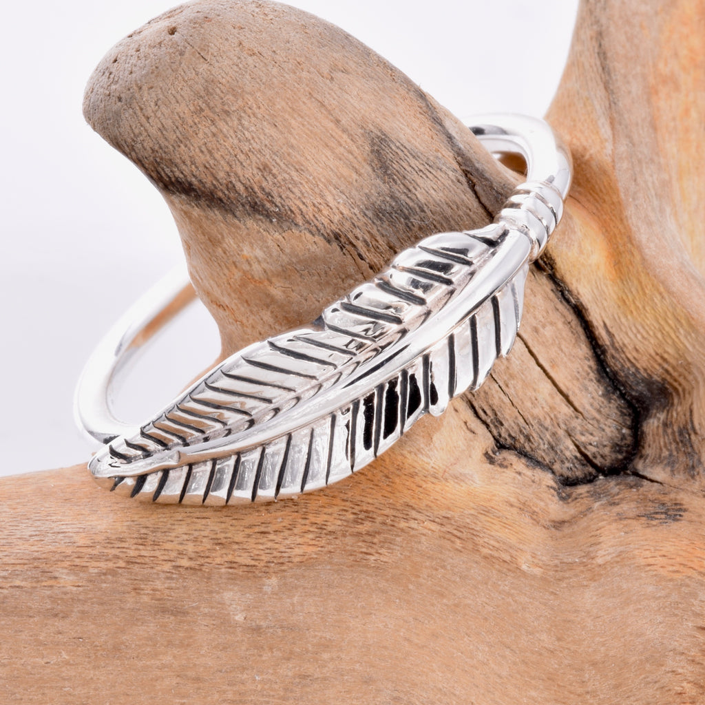 R127 - Feather wrap ring