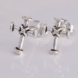 S576 - Medieval Cross stud earrings