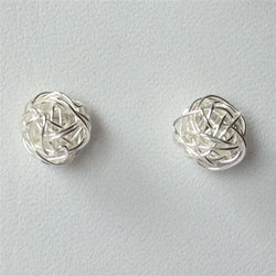 S050 - 925 silver wirework ball stud earrings