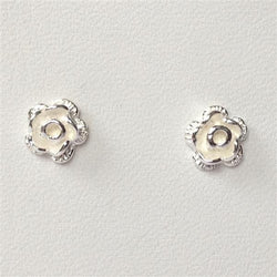 S100 - Satin finish flower stud earrings