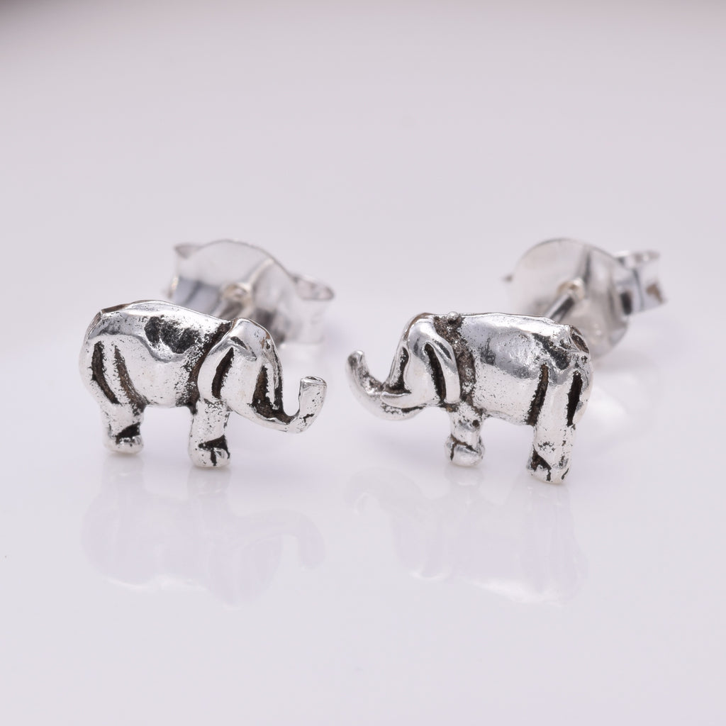S112 Happy Elephant Stud Earrings