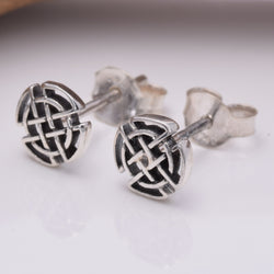 S208 - Celtic knot work design stud earrings