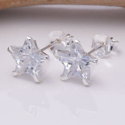 S236 - Star CZ 8mm Stud Earring