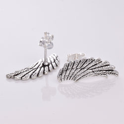 S270 - Silver angel wing stud earrings