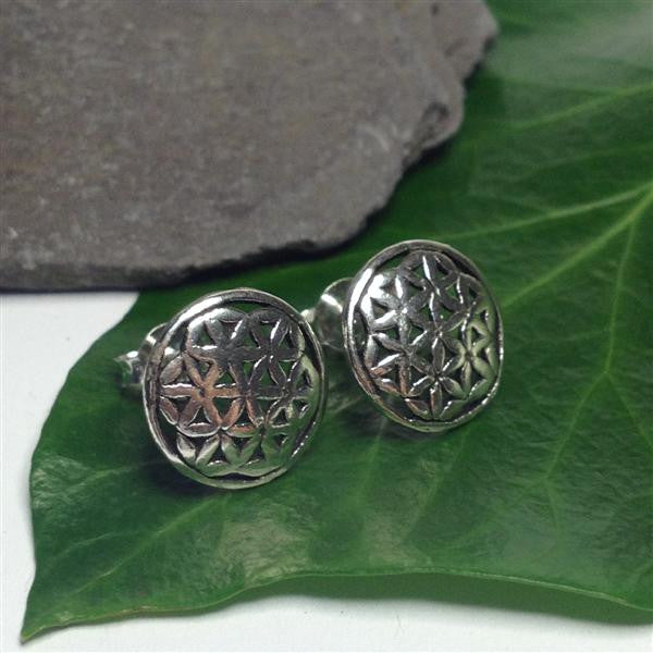 S289 - Flower of life stud earrings