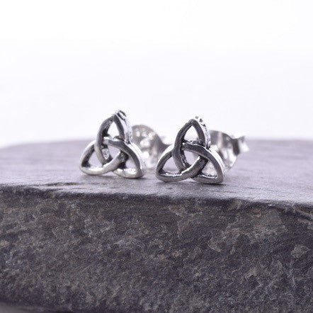 S399 925 Silver Triquetra stud earring