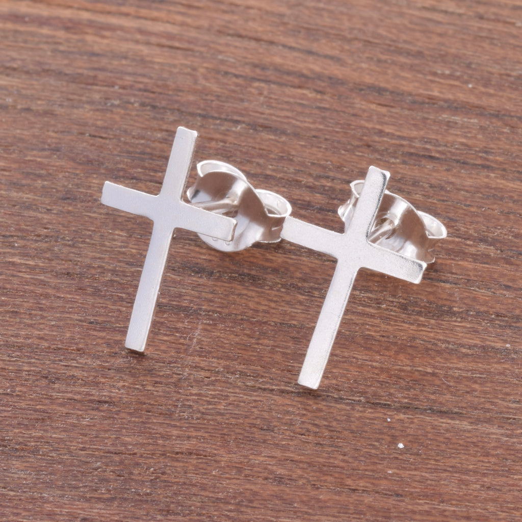 S450 - Cross Stud Earrings