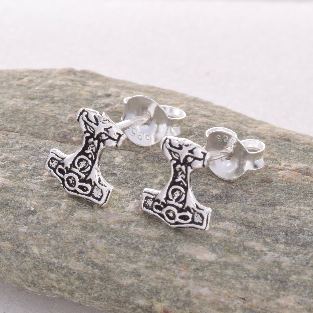 S453 - Thors hammer Stud earrings