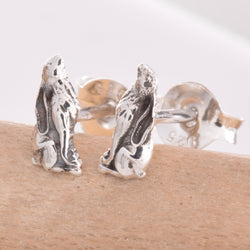 S467 - Moon gazing hare stud earrings