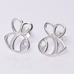 S626 Large outline bee stud earrings