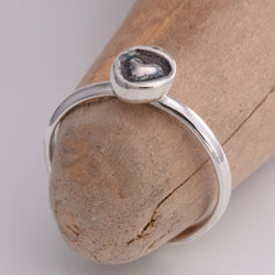 TR058 - Silver heart toe ring