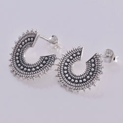 S581 - Boho fan design stud earrings