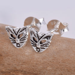 S578 - Cat face stud earrings