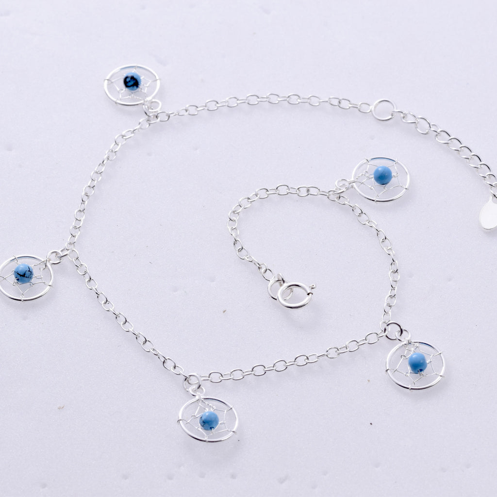 AL022 - Dreamcatcher design anklet