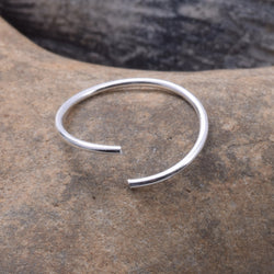 E458 - Sterling silver nose ring flexible 10mm