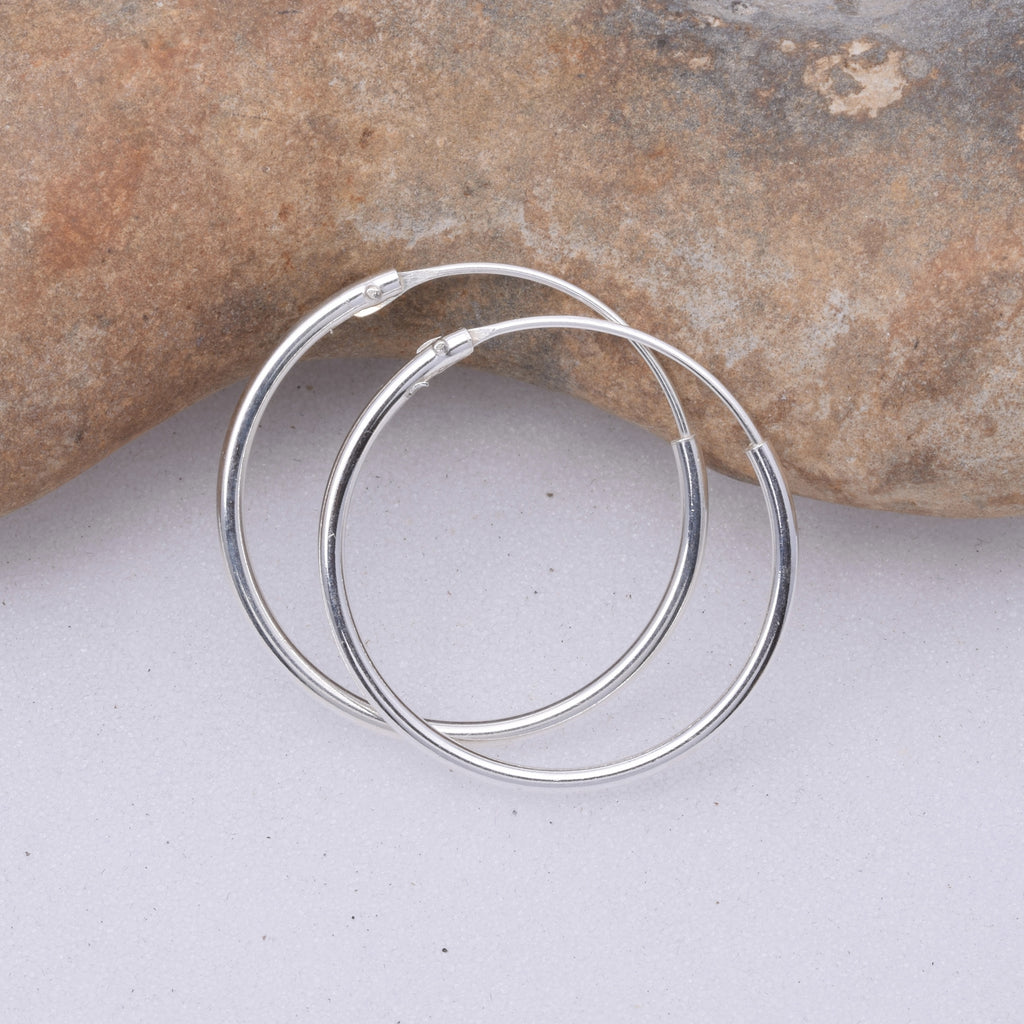 E461 - 1.2 x 20mm Sleeper hoop earrings