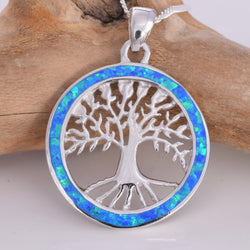 "P506 - Tree Of Life ""Fire Opal"" pendant"