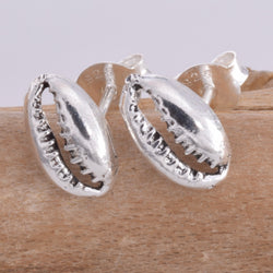 S574 - Cowrie Shell stud earrings