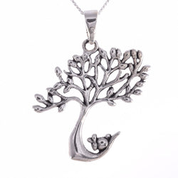 P675 - Windswept tree and rabbit pendant