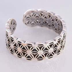 R132 - Flower of Life band ring