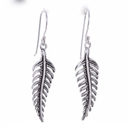 E589 - Silver feather earring