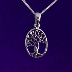 P626 - Oval tree of life pendant