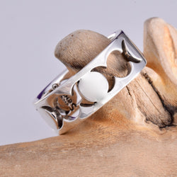 R147 - 925 Silver Triple moon band ring