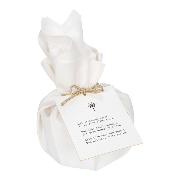 Big Giftwrapped Candle 'Moments of Silence'