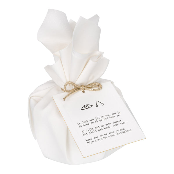 Big Gift Wrapped Candle 'There for You'
