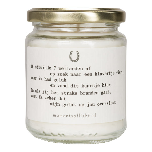 Moments of Luck Scented candle in a jar