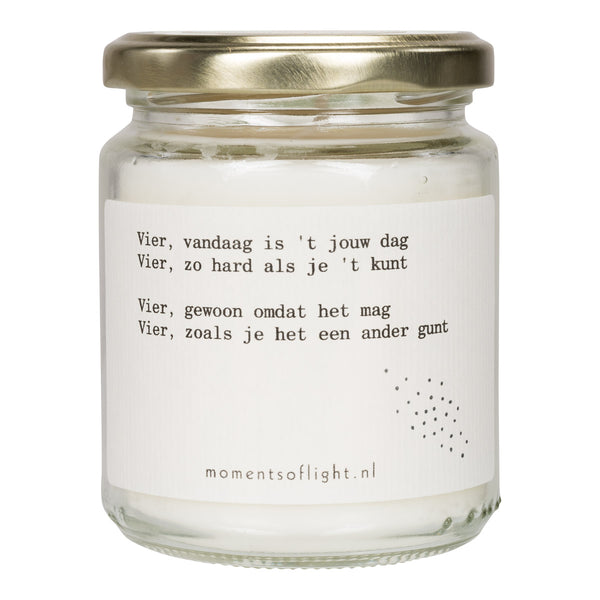 'Moments of Celebration' Scented Candle in a jar (Medium)