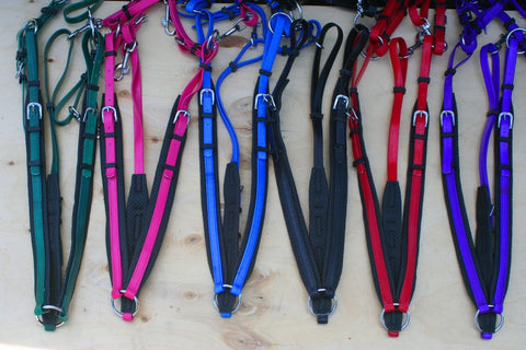 Breast plates- Cob and full  size in  Biothane in six vibrant colors !