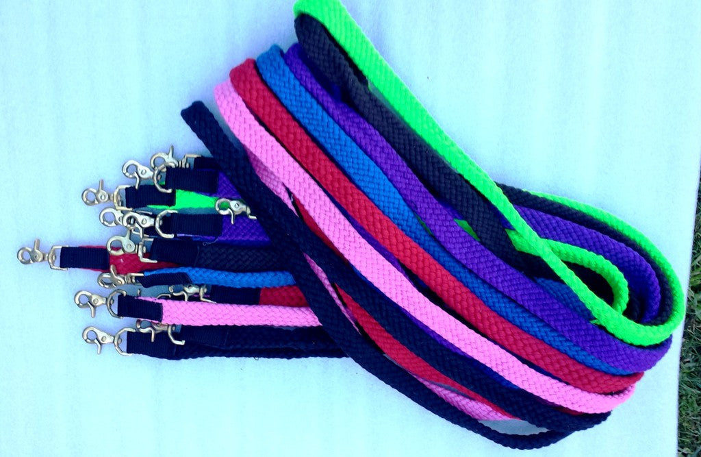 Reins cotton Braided with strong clips 8ft/10ft 12ft