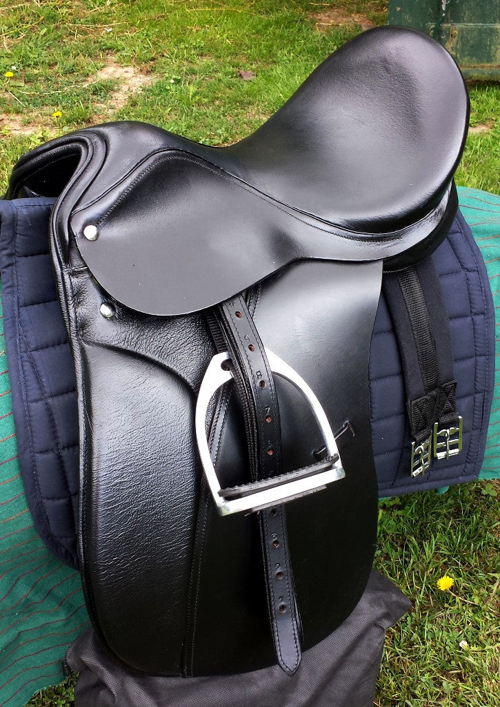 Dressage Saddle Black leather