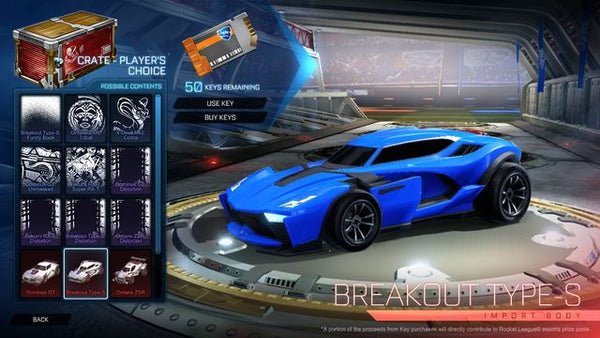 Rocket League crates