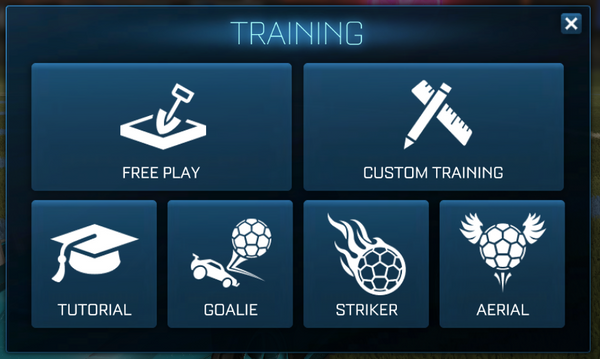Rocket League training