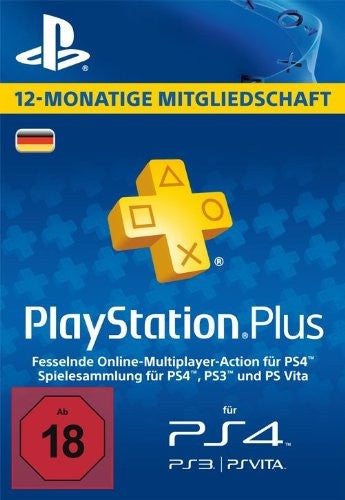 Playstation Plus - 12 Month Membership (Germany)