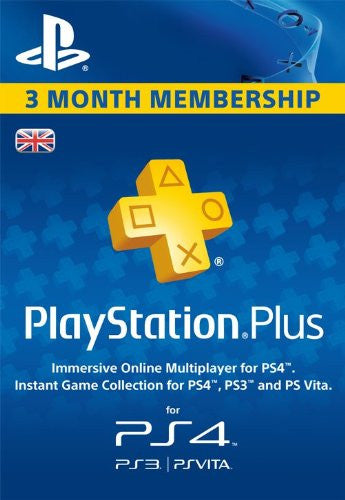 Playstation Plus - 3 Month Membership (UK)