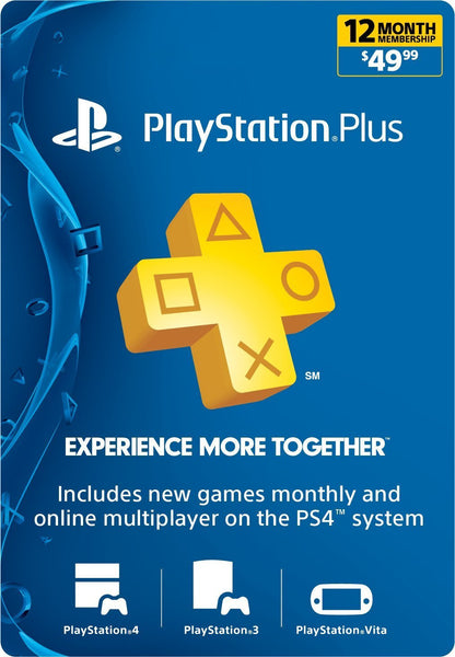 Playstation Plus - 12 Month Membership (USA)
