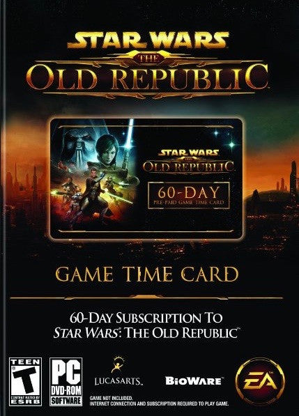 Star Wars Old Republic 60-Day Time Card