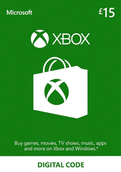 Microsoft Gift Card - £15 (Xbox One/360)